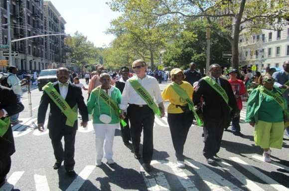 "Dubbed as the ""Largest Black Parade in America,"" the 45th Annual African American Day Parade takes place in Harlem."