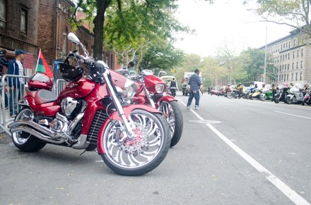Motorcycle riders roared through the 2014 African American Day Parade. Sept 21, 2014.