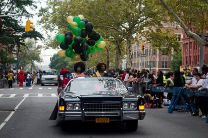 Miss Harlem Shake 2013 and 2014 rode through the African American Day Parade. Sept 21, 2014.