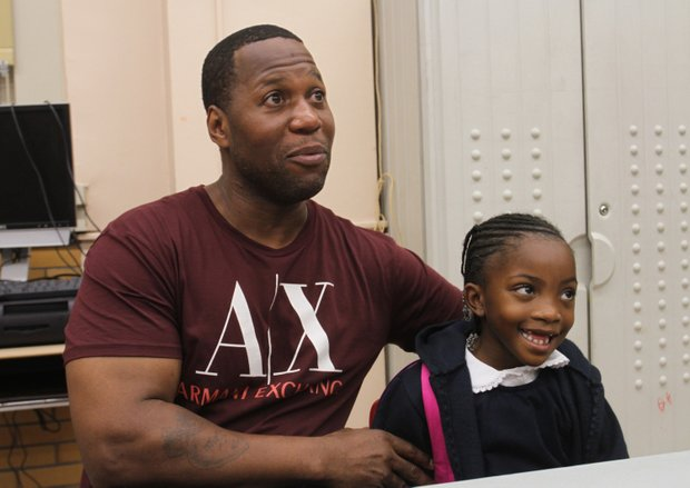 Father Shanon Williams with daughter Miyaree Williams.