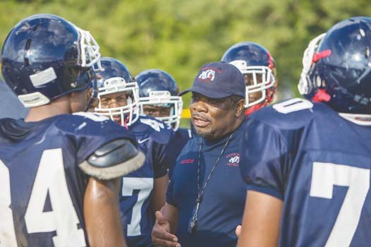 Coach Frank Coston with the Wythe Bulldogs.