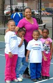 USTA Foundation and Johnson & Johnson hosts Warrior and Family Tennis Day in Harlem