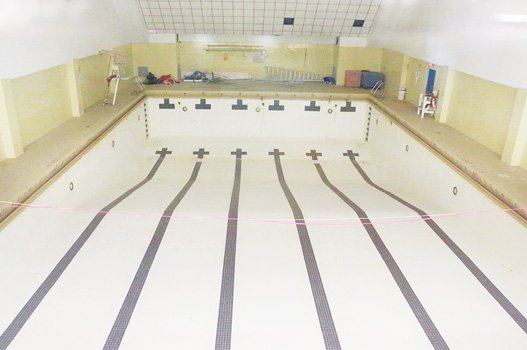 The indoor pool at the Calhoun Family Investment Center sits dormant and dry. The Richmond Redevelopment and Housing Authority closed it in May 2013 because of lack of repair funds.