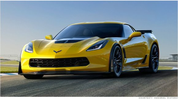 General Motors' new Corvette Z06 can accelerate from zero t 60 miles per hour in just under three seconds.