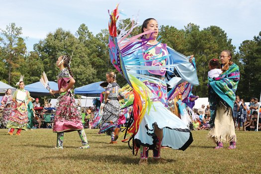 Drumming, dancing, food and fellowship were part of the Chickahominy Tribe's 63rd annual Fall Festival and Pow-Wow last weekend in Charles City County. Many people dressed in native garments for the cultural event, which also was enjoyed by Gov. Terry McAuliffe, who made brief remarks, and U.S. Sen. Tim Kaine. Fry bread, jewelry, clothing and paintings were on display and for sale.