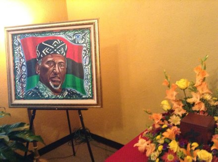 ON SATURDAY, OCT 4 - A BEAUTIFUL SERVICE WAS HELD BY INTERNATIONAL ACTIVIST BABA HERMAN FERGUSON IN RALEIGH, NORTH CAROLINA. F0LKS TRAVELED FROM ALL ACROSS THE COUNTRY TO ATTEND THE HOME-GOING SERVICE OF THE 93-YEAR-OLD FORMER 'PRISONER IN EXILE.'