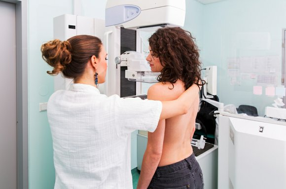 A mammogram is an X-ray picture of the breast. Doctors use a mammogram to look for early signs of breast ...