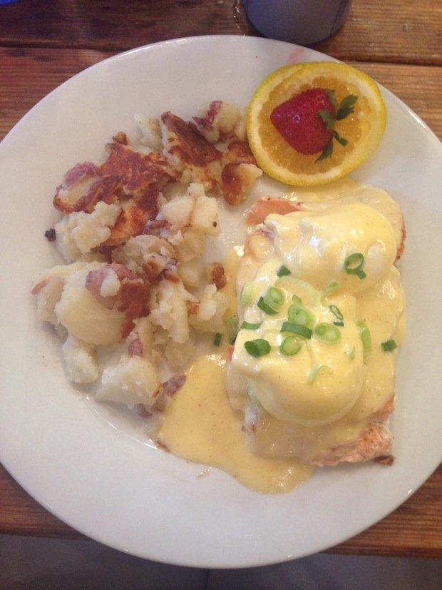 Salmon and eggs at Sunflower Bakery & Café