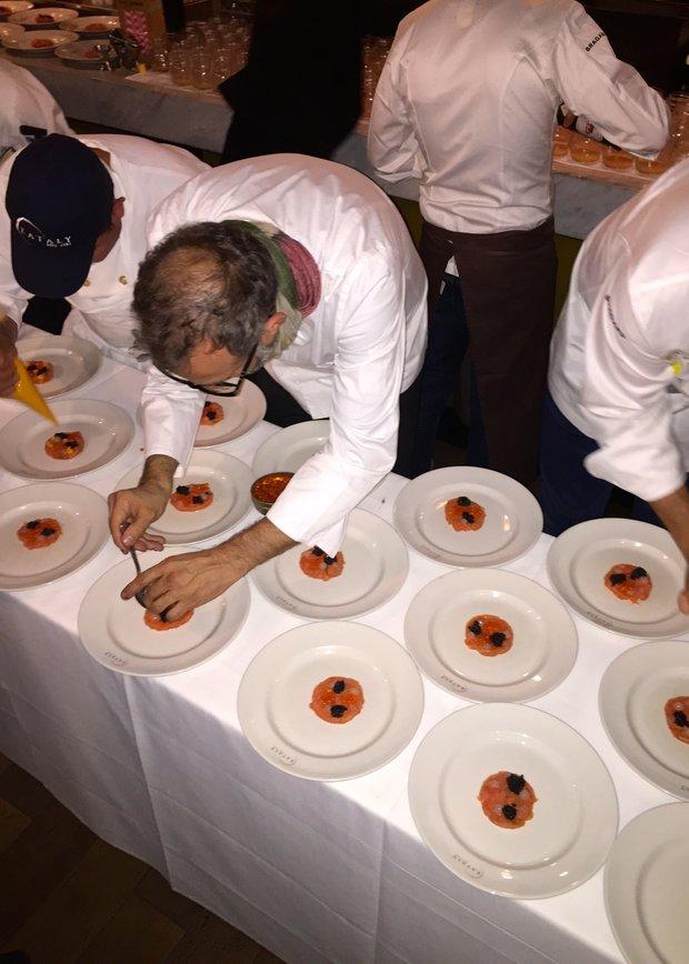 Massimo Bottura readies antipasto