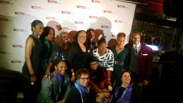 'While I Yet Live' cast, producers and the Porter family on opening night.