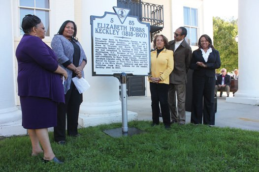 A state historical marker unveiled last Sunday at the Dinwiddie courthouse in her native County recalls Elizabeth Hobbs Keckley's remarkable ...
