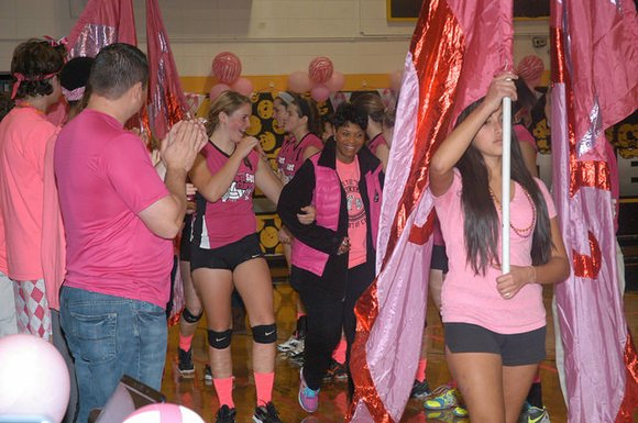 The annual fundraiser features a fundraising volleyball game in which Joliet West faces off against Joliet Central.