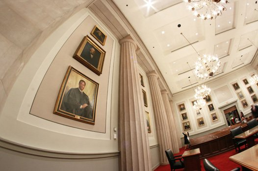 A portrait of late Virginia Supreme Court Chief Justice Leroy R. Hassell Sr. was commissioned by the Virginia Bar Association and now hangs Downtown in the state's highest court.