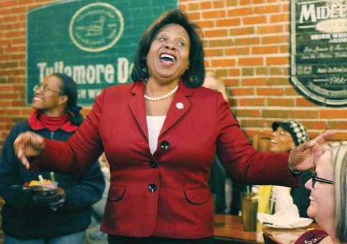 Delegate Rosalyn R. Dance celebrates her election victory in the contest for the state Senate seat vacated by Henry L. Marsh III. Location: A restaurant on Richmond's South Side.