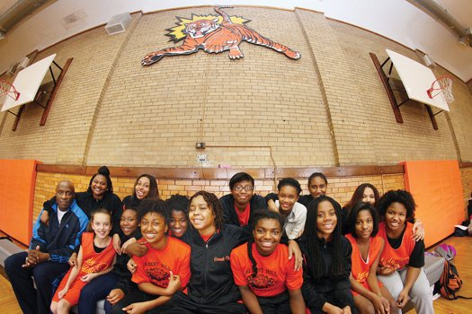 Coach Michele Drayton walked into the Albert H. Hill Middle School gym for the first time since suffering a stroke ...