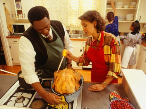Tips on keeping thinks safe while cooking the holiday turkey.