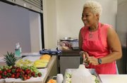 Tondria Simon-Johnson is the owner of Celestial Catering featuring Sweet Treats by Tondria prepares sweet treats at Mt. Calvary AME Church in Towson, where she currently uses kitchen space for her catering company.