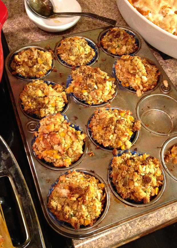 My mother's stuffin muffins last year