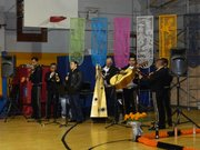 Mariachi Real de Mexico playing at the Day of the Dead festivities.