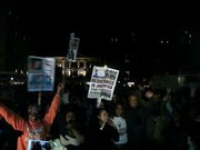 Demonstrators in New York gathered in Union Square and Times Square upon the announcement that Darren Wilson would not be indicted.