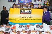 The community and Harlem Mothers S.A.V.E. thank Fairway for their support of the neighborhood turkey giveaway.
