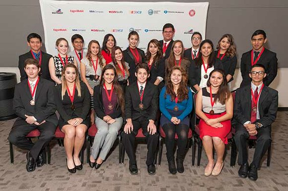 The Hispanic Heritage Foundation (HHF) and its sponsors honored 21 Latino high school seniors from the Houston region for their ...