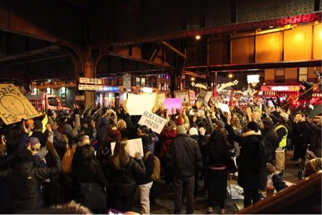 Over a thousand protestors gathered on 125th Street and Park Avenue on Thursday evening to demonstrate against police brutality.