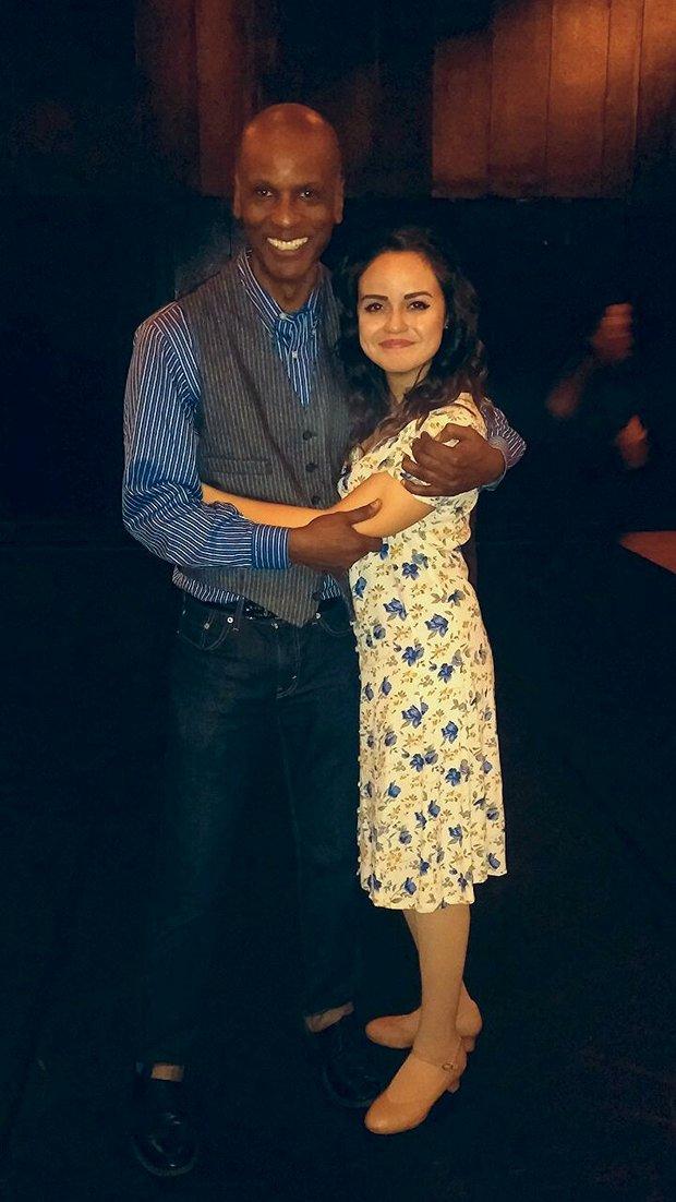 Keith Lee Grant (Director) and Katie Lugo (Maria)