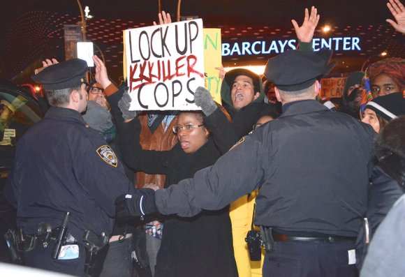 """There was no justice, so there will be disruption,"" is the rallying cry of outraged New Yorkers and protestors across ..."