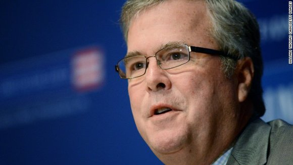 Jeb Bush said Tuesday that his 91-year-old father, who's still wearing a neck brace after fracturing a vertebrae this summer, ...