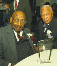 Dabney Montgomery (Tuskegee Airman and HCE honoree) and Mayor David N. Dinkins (HCE honoree)