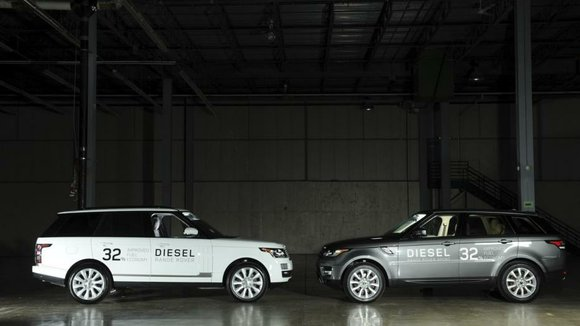 Jaguar took to the 11th floor of Detroit's Argonaut Building ahead of the Detroit auto show to announce new diesel ...