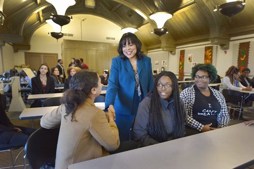 Dozens of high schoolers from Portland's black community are learning about leadership with a powerful line-up of women.