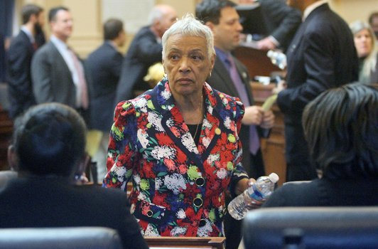Delegate Mamye E. BaCote of the 95th District on opening day of the General Assembly, Jan. 14, 2015. Delegate BaCote represents parts of the cities of Hampton and Newport News.