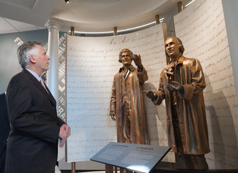 Virginia Gov. Terry McAuliffe tours the First Freedom Center in Downtown Richmond on Jan. 16, 2015, National Religious Freedom Day.