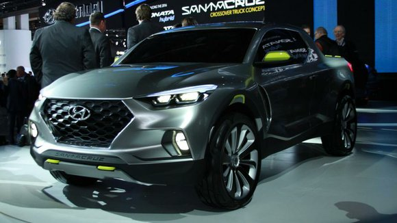 Hyundai is bringing a little bit of everything to the Chicago Auto Show. Its Santa Cruz Crossover Truck Concept will ...