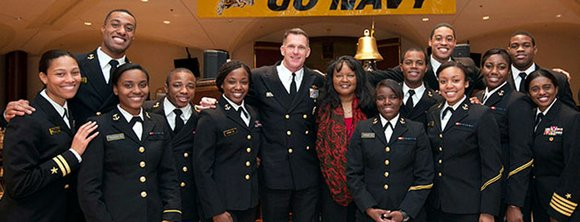 The U.S. Naval Academy held a luncheon celebrating African American/Black History Month with special guest, Janie Mines, Feb. 2, in ...