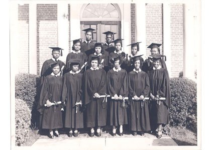 On January 9, 1865, the Baltimore Association for the Moral and Educational Improvement of Colored People opened one of Baltimore City's first free schools for blacks in the African Baptist Church in Crane's Building on the corner of Calvert and Saratoga Streets. Bowie State University (BSU) evolved from that early school teaching the elements of education into a comprehensive, diverse university preparing students for a changing world. The university officially launched a year-long celebration of the 150th anniversary of its founding at Reginald F. Lewis Museum of Maryland African American History & Culture in January. Above: BSU's first graduating four-year class from 1941.