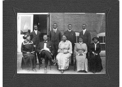 The faculty of the Maryland Normal and Industrial School at Bowie in 1912.