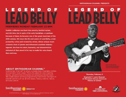 "On Thursday February 5, 2015, Comcast and Smithsonian Channel hosted a private screening of ""Legend of Lead Belly"" at the ..."