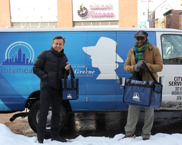 Friends and executive chefs Marcus Samuelsson and Daniel Boulud delivered meals to homebound elderly to celebrate the one-year anniversary of ...