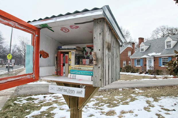 """Take a book or two, read them and then return them when you're finished, using the honor system. And perhaps place a book or two in the """"Little Free Library"""" for others to enjoy. What a novel idea. This community box in the 1600 block of Laburnum Avenue on North Side invites book readers to do just that. Roughly a dozen mini libraries are scattered around Richmond. Go to www.littlefreelibrary.org to learn more about them."""