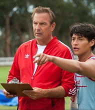 """Kevin Costner (left) and Carlos Pratts star in the new film """"McFarland, USA."""""""
