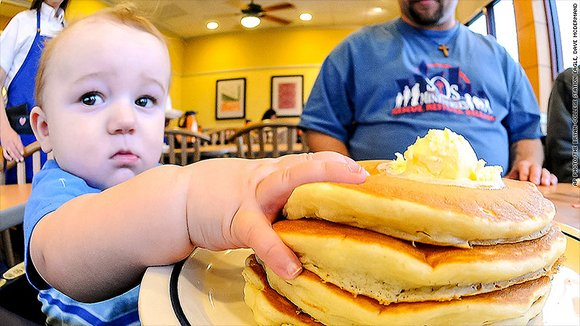 Diners will be asked to leave a donation for a charity like Children's Miracle Network Hospitals, and IHOP said that ...