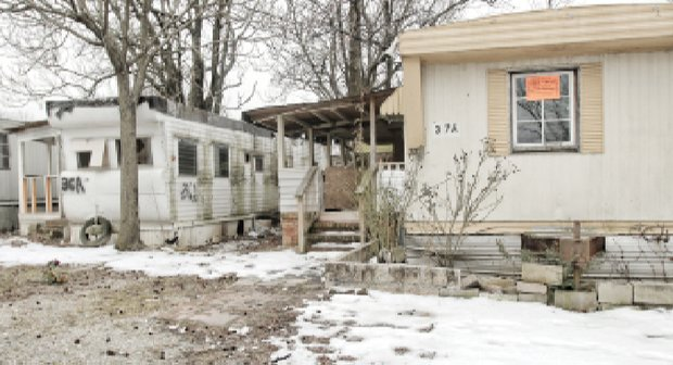 Abandoned trailers at Rudd's Trailer Park on Jefferson Davis Highway on South Side present an inviting target for vandals.