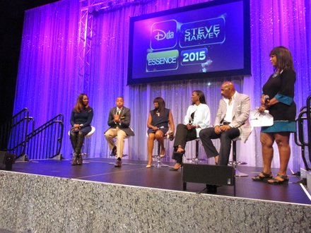 Press Conference with Yolanda Adams, Princeton Parker, Tracy Powell, Mikki Taylor Steve Harvey and Annette Gibbs