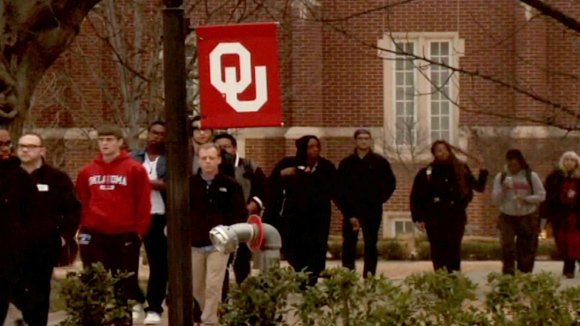 "Two University of Oklahoma students were expelled Tuesday for their alleged ""leadership role"" in a racist chant by Sigma Alpha ..."