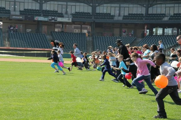 The free event at Silver Cross Field takes place before the city's annual Easter Parade in downtown Joliet.