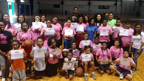 """The Dwight D. and Sheryl H. Howard Foundation held their 1st annual """"Girlz Rule"""" basketball camp on March 19th-20th at ..."""
