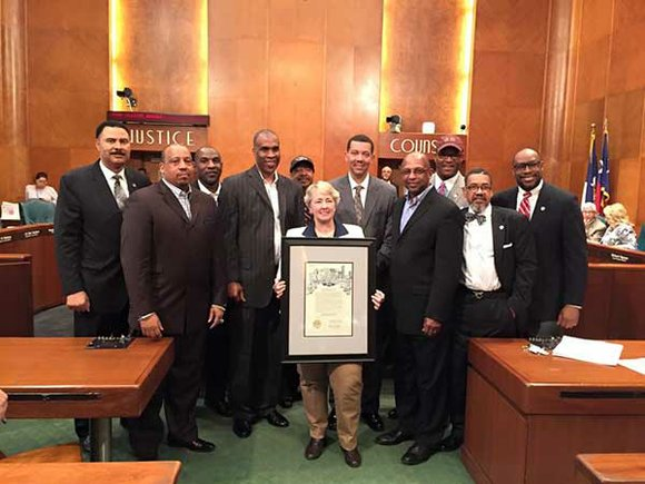 Council Member Dwight Boykins (District D) presented a proclamation to Texas Southern University for winning the 2015 SWAC Tournament Title ...
